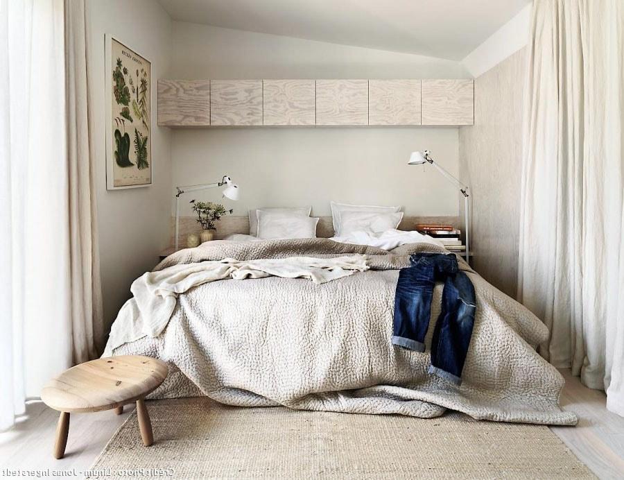 Chambre blanche et beige