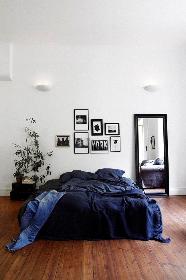 Chambre bleu moderne