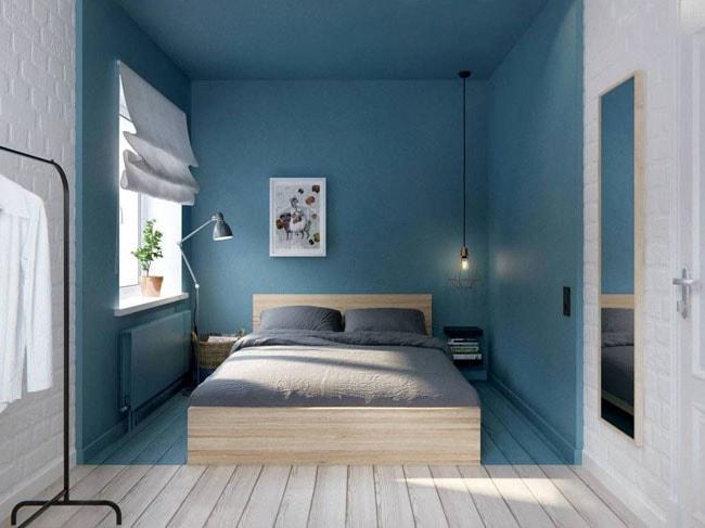 Chambre bleue et blanche © Picasa