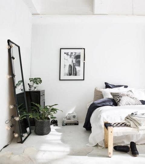 Chambre noire et blanche