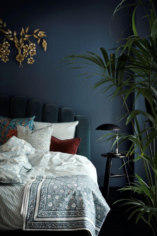 Chambre total look bleu