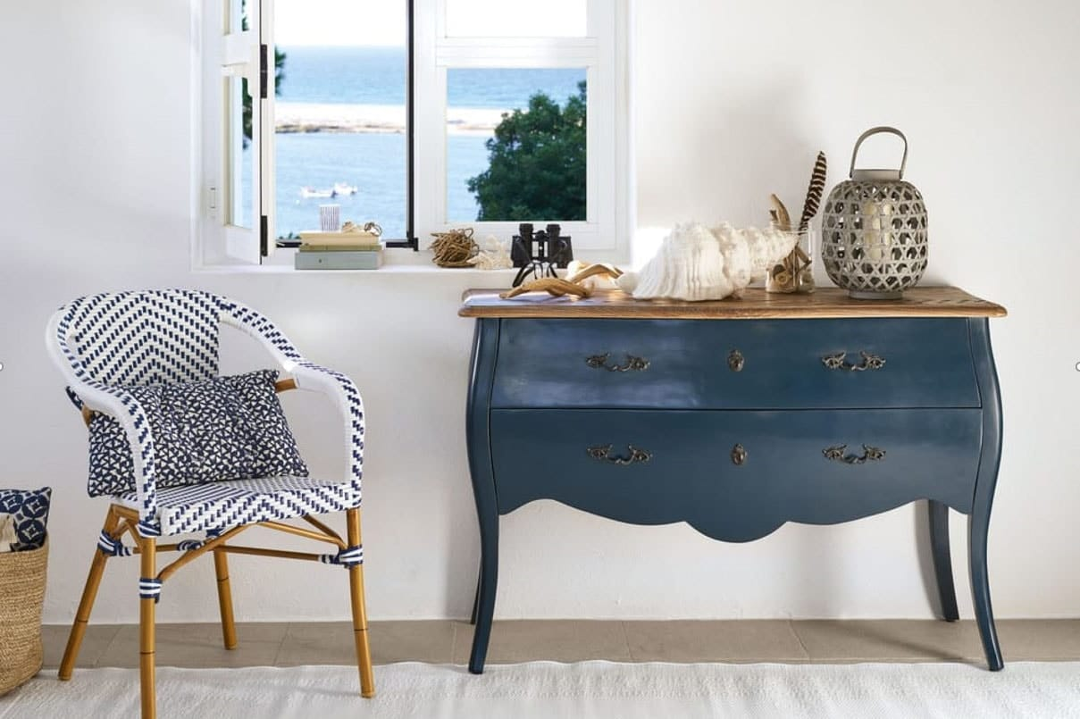 Commode bleu marine