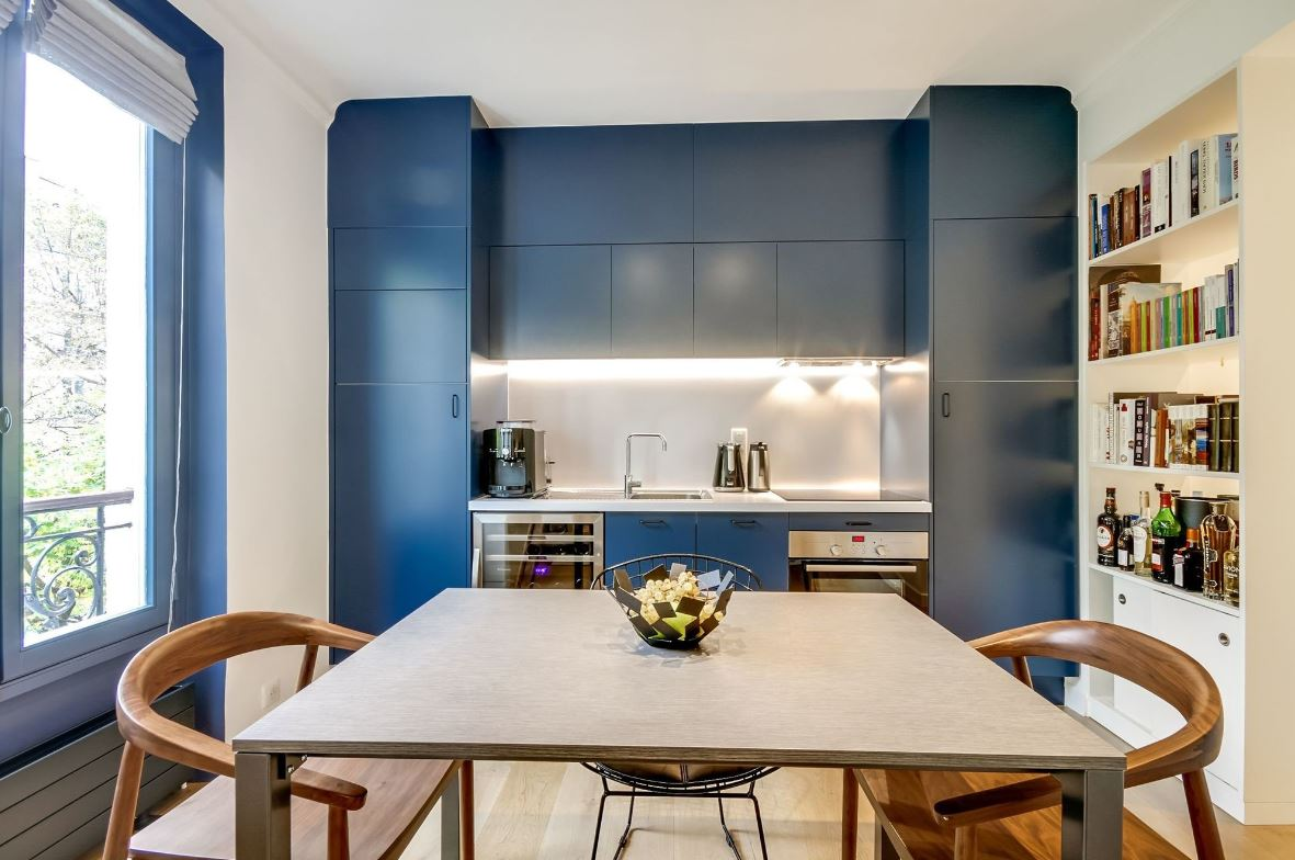 Cuisine moderne bleue