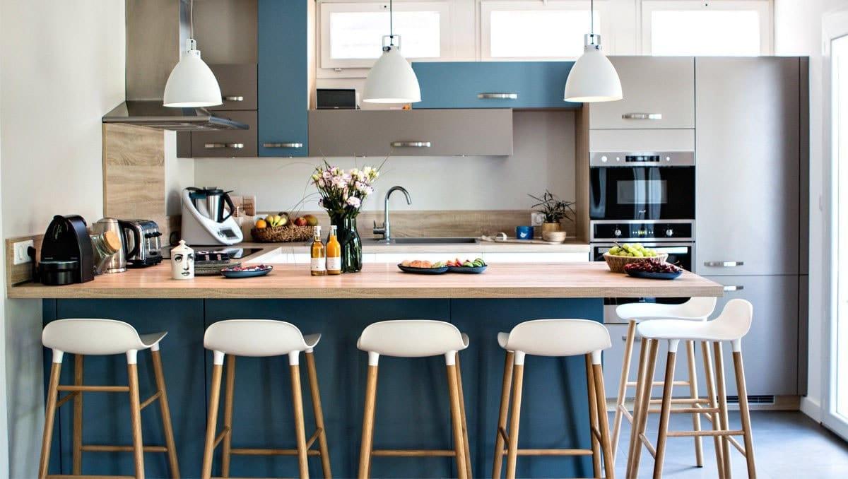 Séparation De Cuisine Bar cuisine ouverte avec bar : idées d'aménagement et décoration