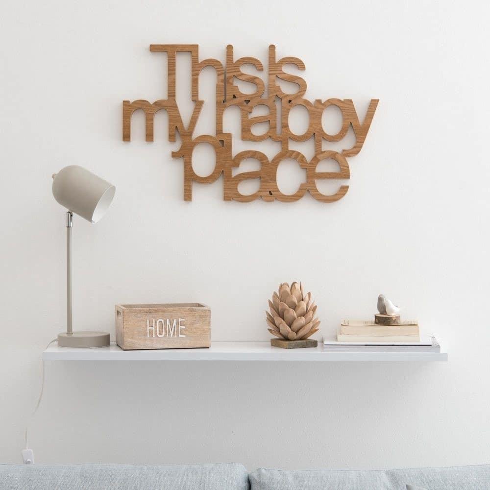 Message en bois