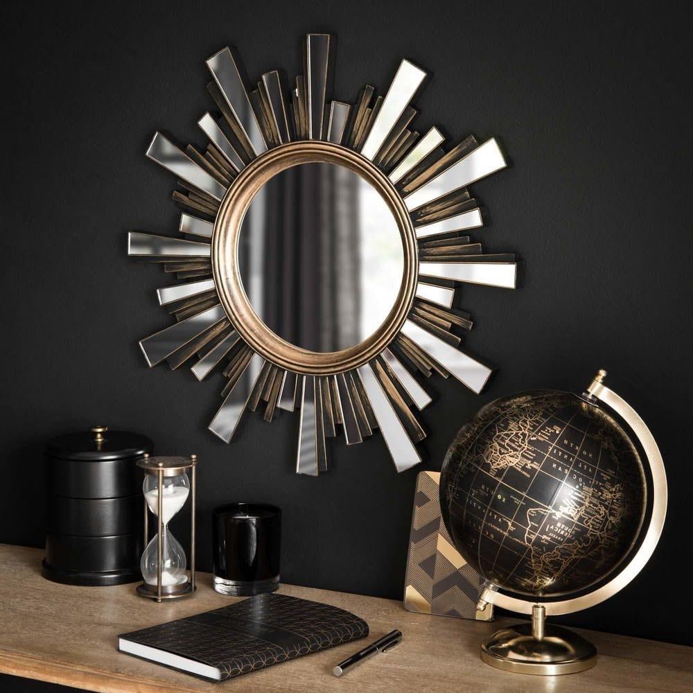 Miroir soleil métal vieilli
