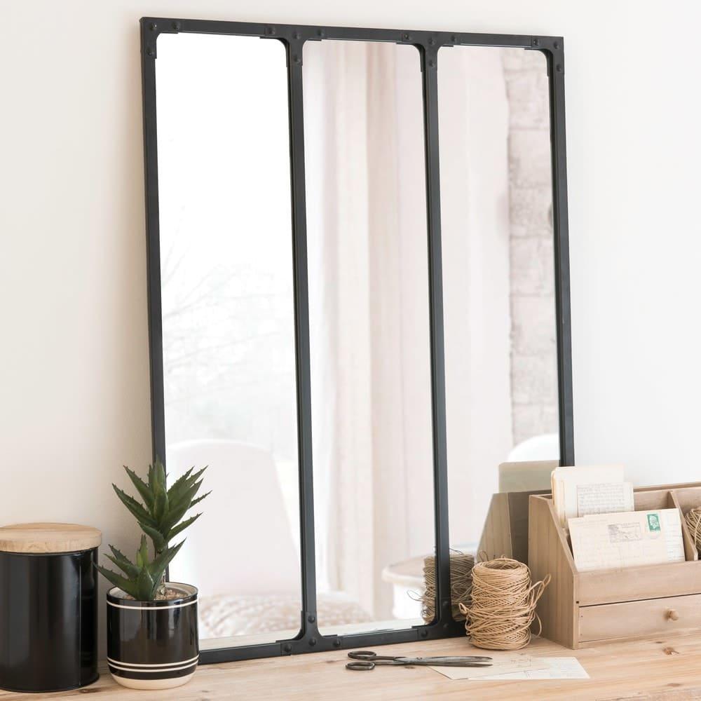 Miroir triptyque style atelier