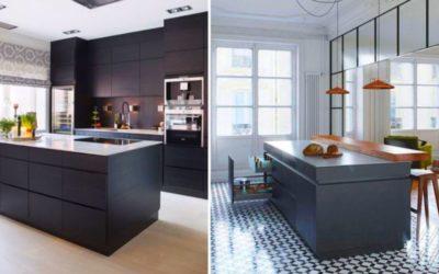 Petite cuisine avec ilot central : 23 modèles de petites cuisines modernes et design