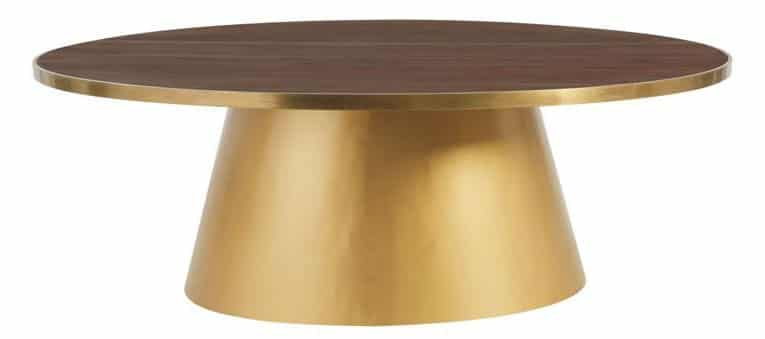 Table métal doré
