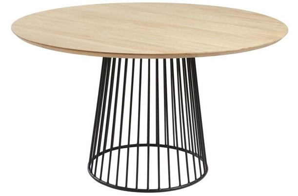 Table ronde bois et métal