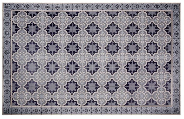 Tapis imitation carreaux de ciment