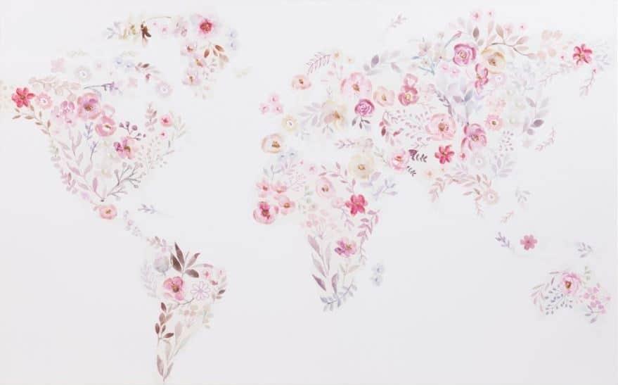 Toile florale