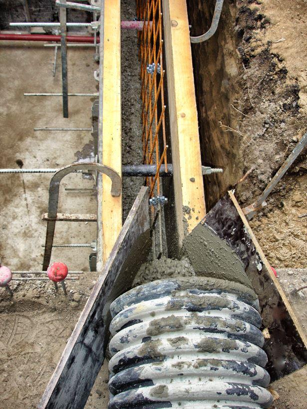 coulage du beton