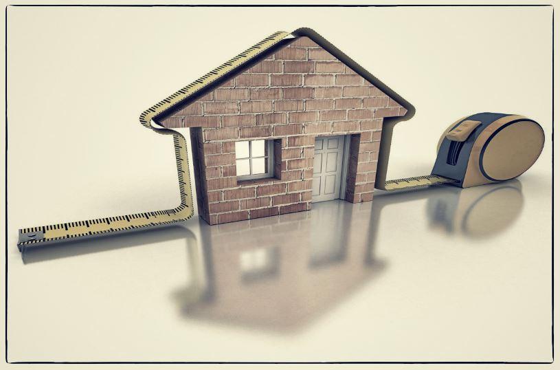 mesure d'une maison pour l'emprise au sol
