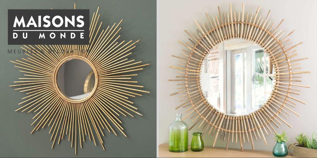 Miroir cadre bois maison du monde - Accessoires salle de bain maison du monde ...
