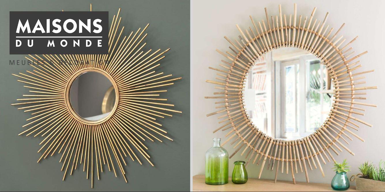 Miroir maisons du monde modèles de miroirs pour votre