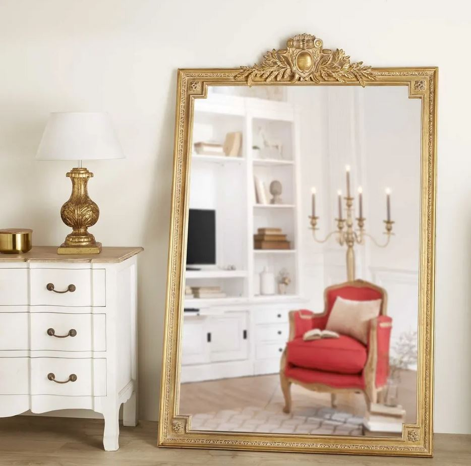 Miroir Moulure Dore