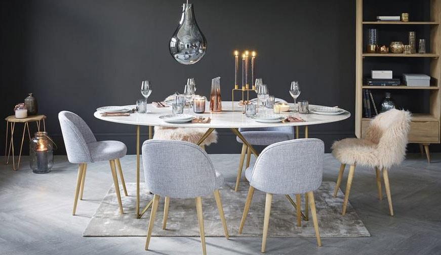 Table maisons du monde notre s lection pour une d co r ussie - Table salle a manger plateau marbre ...