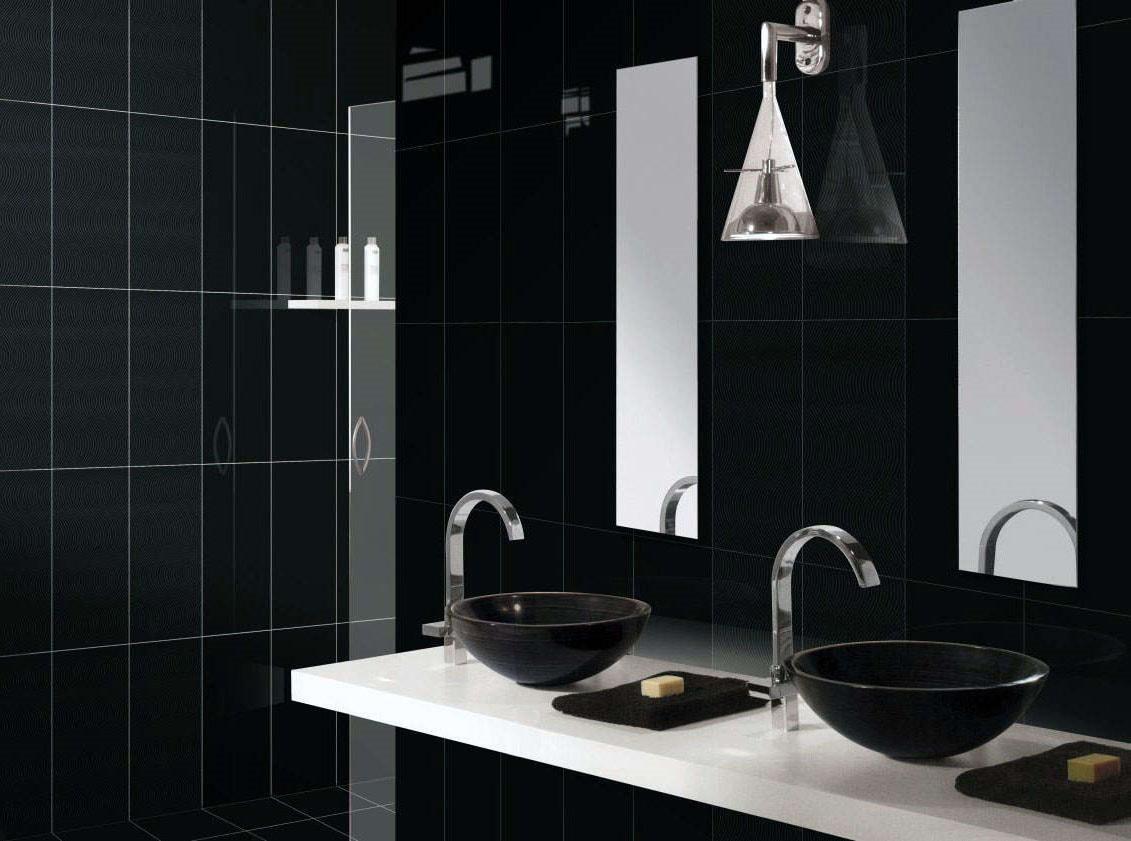 Élégante salle de bain noire