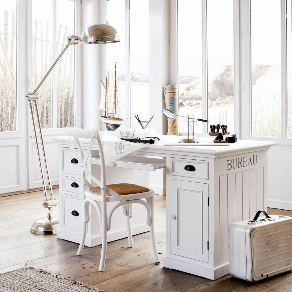Bureau 4 tiroirs une porte