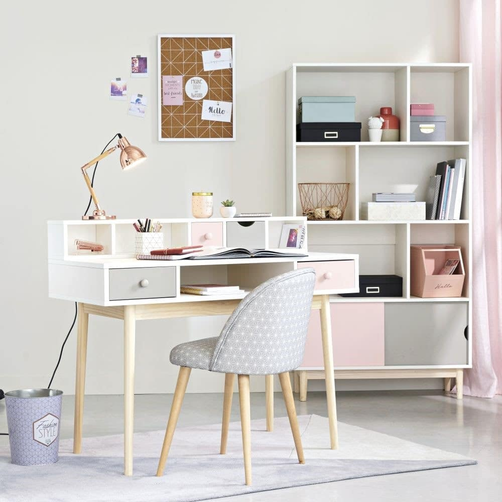 bureau enfant gar on et fille maisons du monde notre. Black Bedroom Furniture Sets. Home Design Ideas