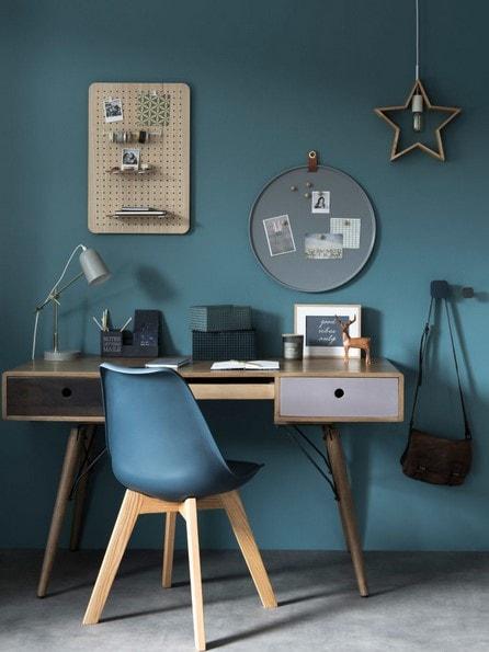 Bureau vintage couleur