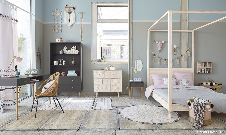 chambre d ado fille 30 id es de d coration pour une. Black Bedroom Furniture Sets. Home Design Ideas