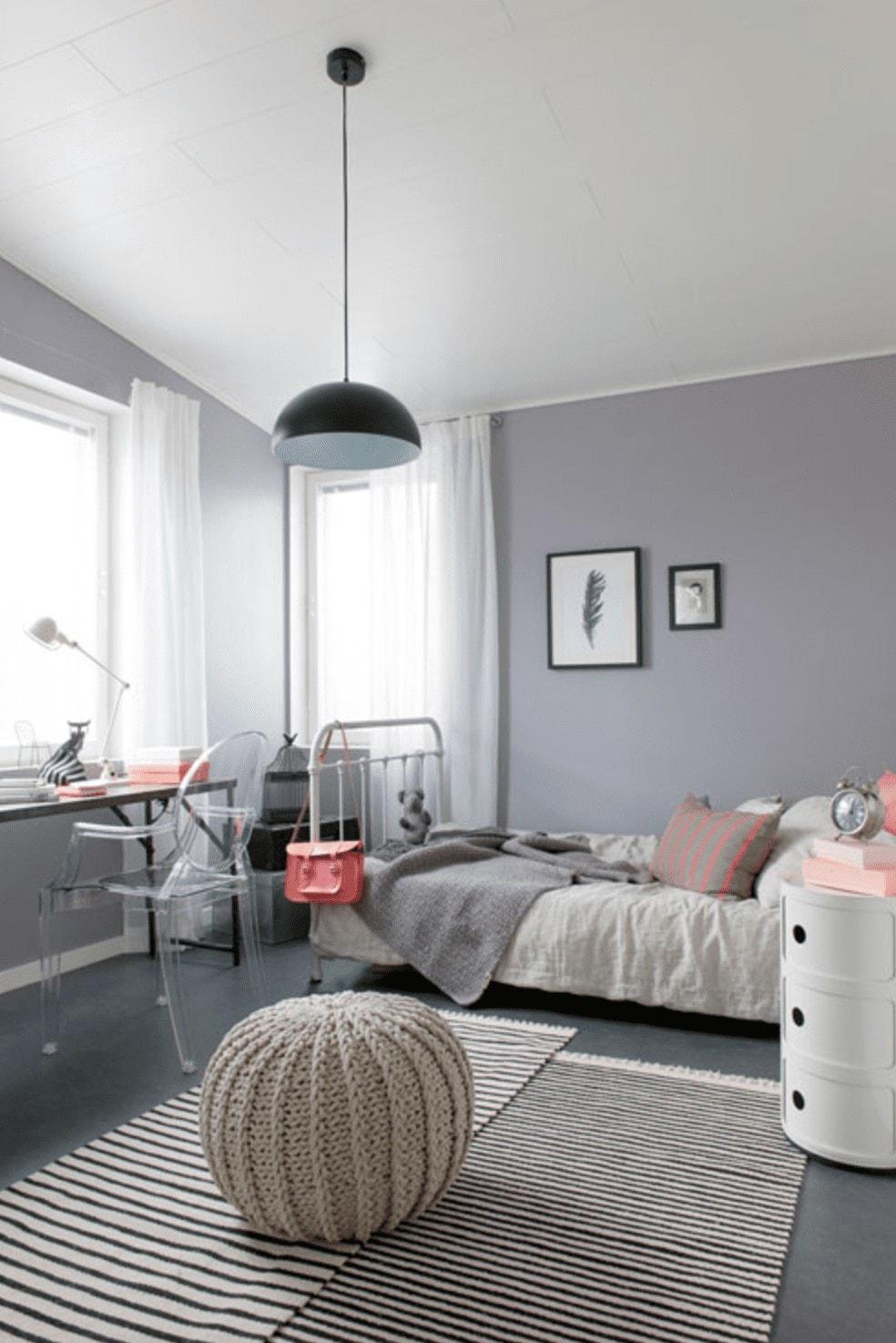 Chambre ado grise