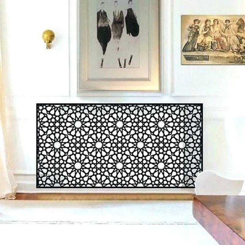 Grille cache-radiateur design oriental