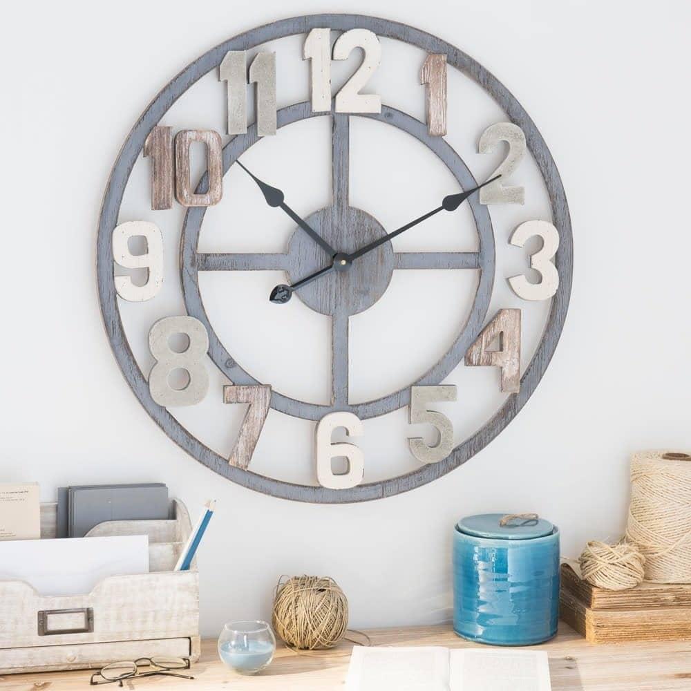 Horloge panneau de particule
