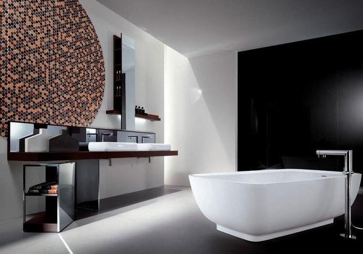 Salle de bain décor en mosaïque