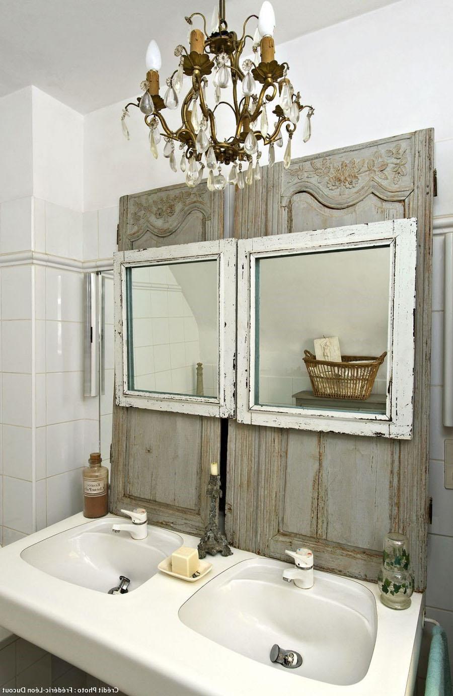 Salle de bain esprit shabby