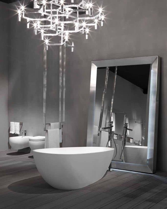 Salle de bain look futuriste