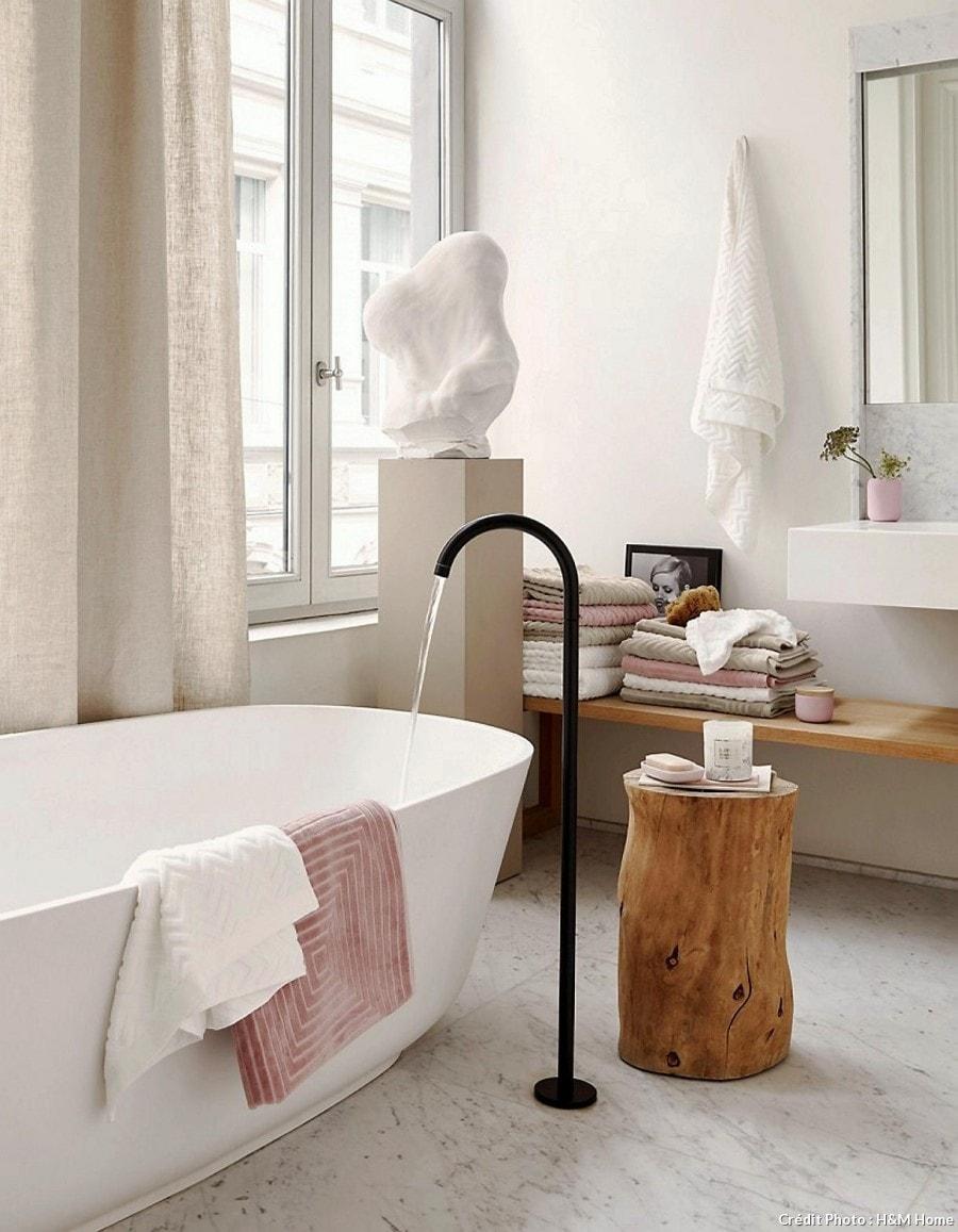Salle de bain marbre blanc