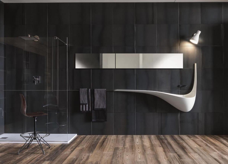 Salle de bain noir design