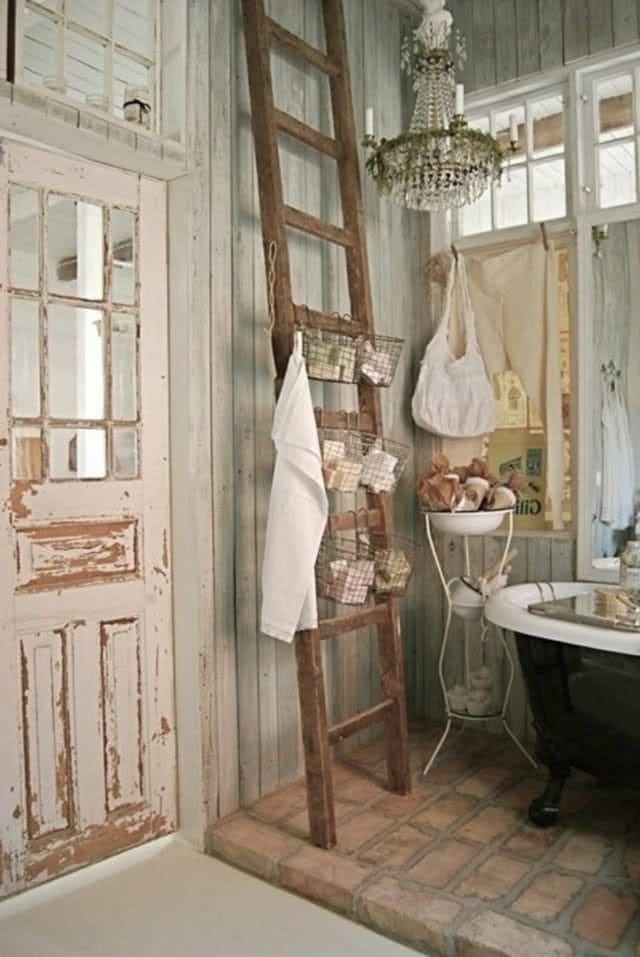 Salle de bain style shabby