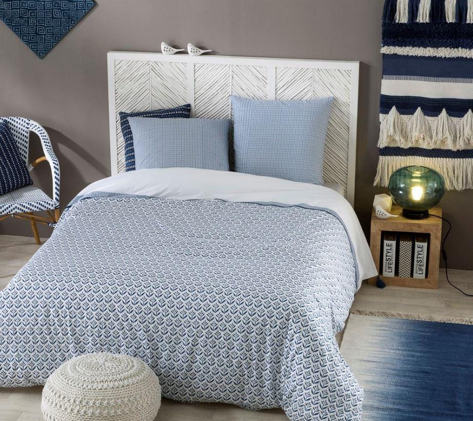 Tête de lit bois et rotin