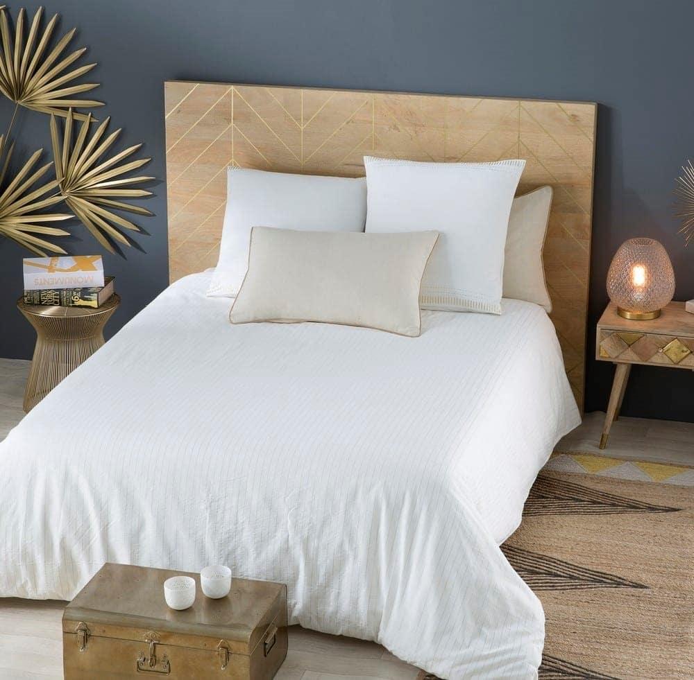 Tête de lit motifs dorés