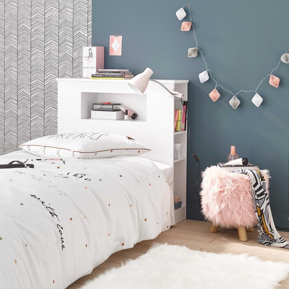 Tête de lit rangement intégré