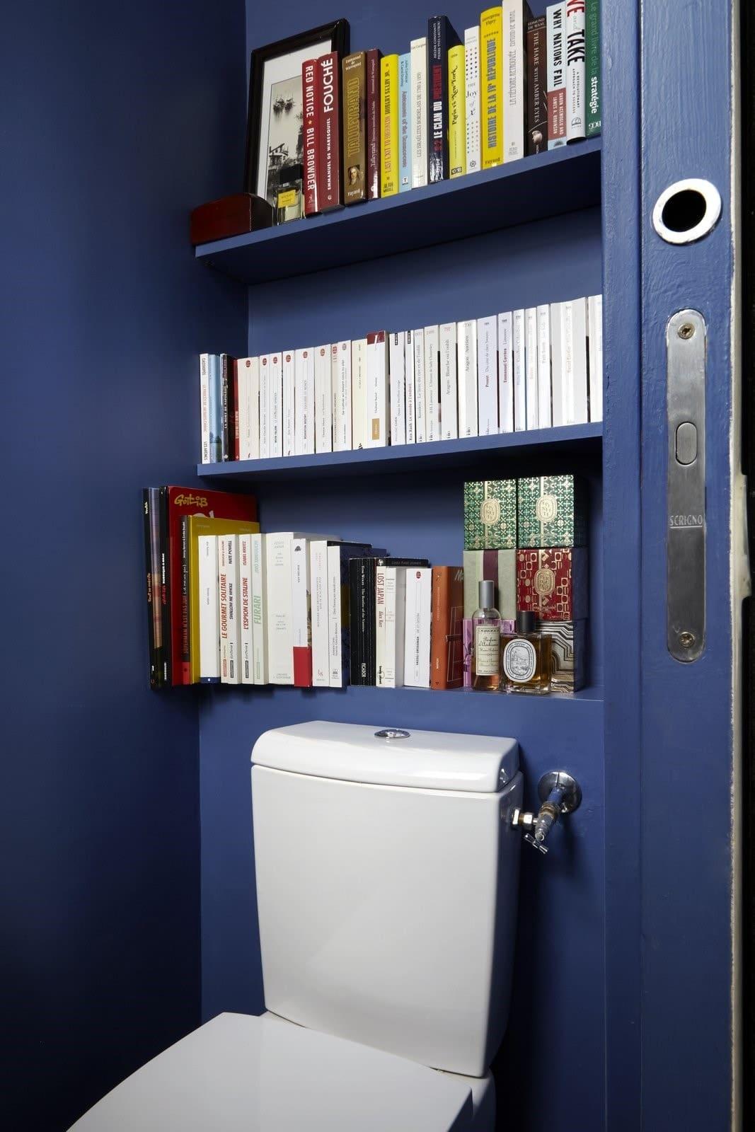 Toilettes bleus