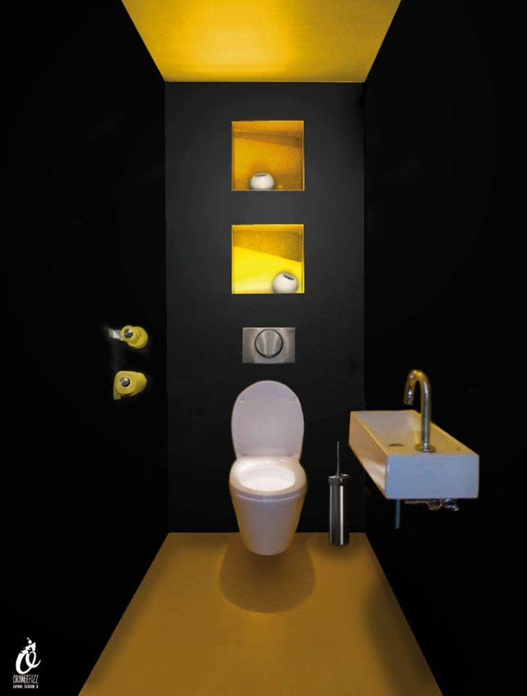 Toilettes jaunes
