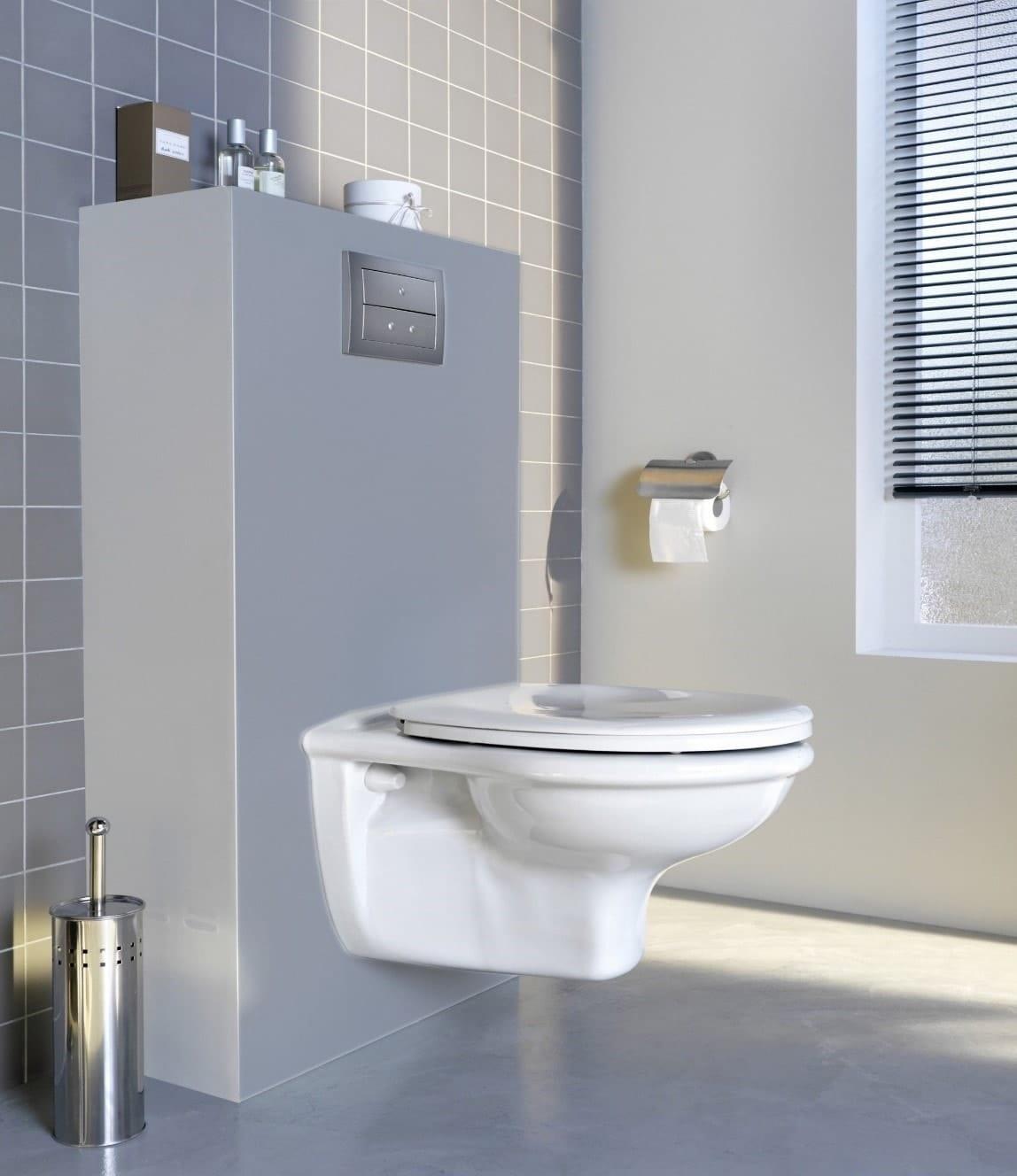 Toilettes tout en gris