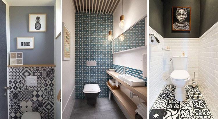 3 styles différents de deco toilettes
