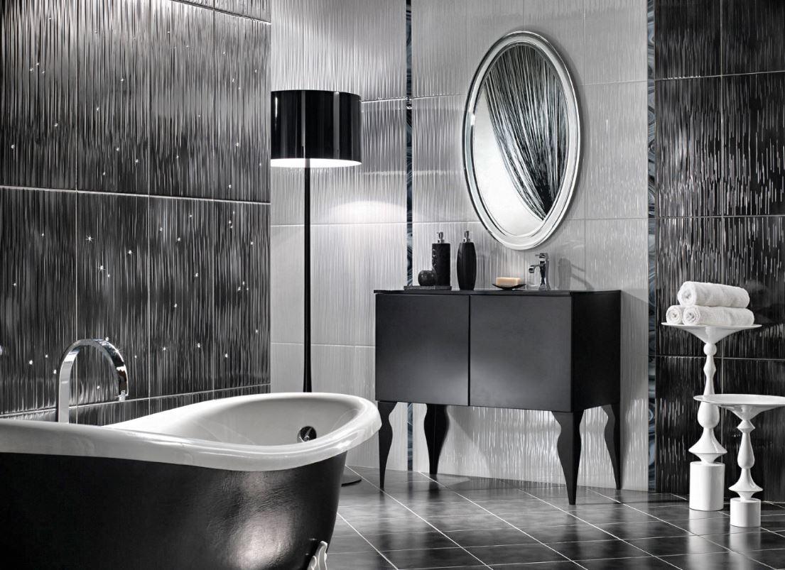 Carrelage Sol Salle De Bain Gris Anthracite salle de bain noir : 23 idées de salle de bain noir et moderne §