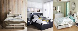 3 modéles de lits avec rangement