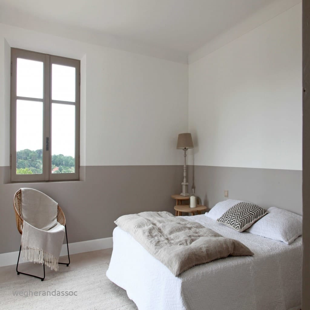 CHAMBRE LIN ET TAUPE