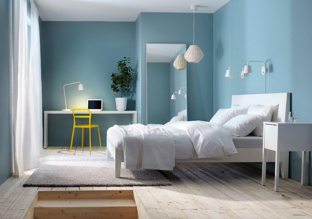 Captivant Chambre Bleu Pastel