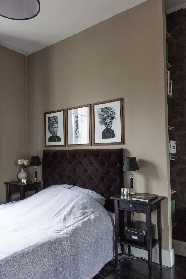 Chambre mur taupe