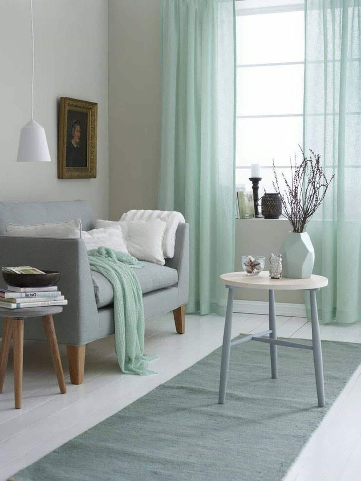 Chambre vert pastel