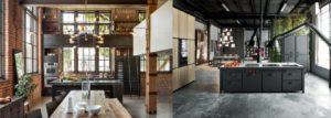 2 exemples Cuisine noire et bois